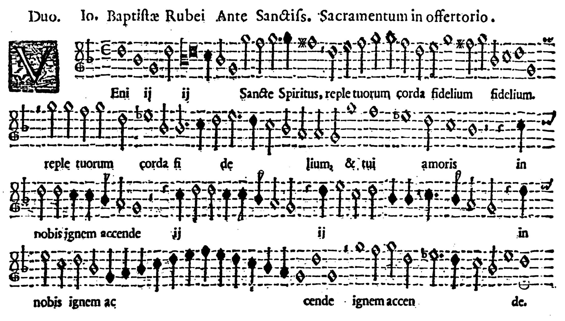 """ORIGINALE - G.B. Rossi, """"Ante Sanctissimus Sacramentus"""""""