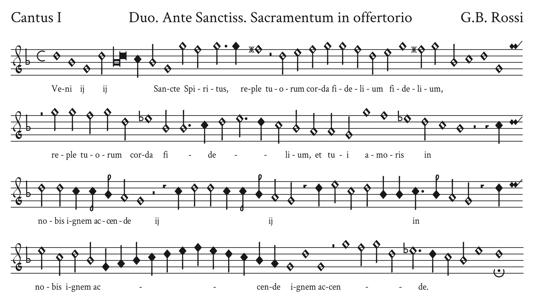 TRASCRIZIONE - G.B. Rossi - Ante Sanctissimus Sacramentus